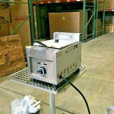 NEW Commercial Deep Fryer Propane Gas Use Single Basket Counter Top Food Fries