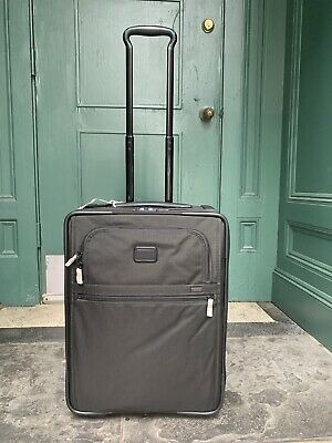 """Tumi Alpha 2 Expandable 2-Wheeled Carry-On Luggage Black $645 -22""""x16""""x9"""" In"""