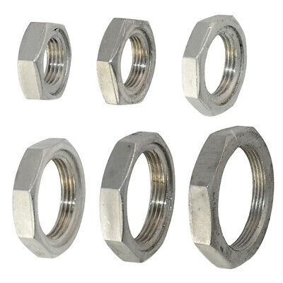 """1Pc 1/2""""-2"""" Lock Nut Stainless Steel 304 O-Ring Groove Pipe Fitting Lock Nut NPT"""