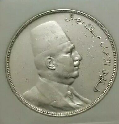 """EGYPT RARE  STIRLING SILVER COINS  20 PIASTRES  KING FOUAD  1923""""Very Good"""""""