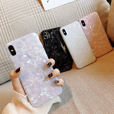 For iPhone 11 Pro Max XS XR 7 8 Plus Marble Shockproof Tough Silicone Case Cover