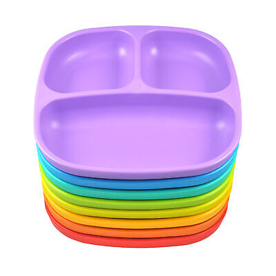 Re-Play Divided Plate Kids Baby Feeding Plate Tableware BPA Frees
