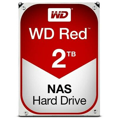 "Western Digital WD Red 2TB 3.5"" SATA Internal NAS Hard Drive HDD 5400RPM 256MB"