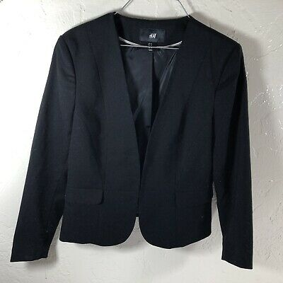 womens blazers pre owned h&m black jacket size 10