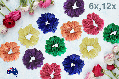 Scrunchies Large Ponytail Holder Rubber Band Superior Quality Hair Ties 6x - 12x