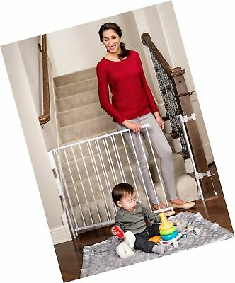 Regalo Extra Tall and Wide 2-in-1 Stairway and Hallway Wall Mounted Baby Gate...