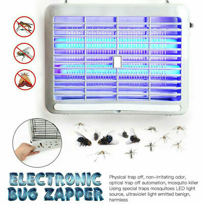 UV Electric Insect Fly Killer Bug Zap Zapper Flying Pest Catcher Trap LED Lamp