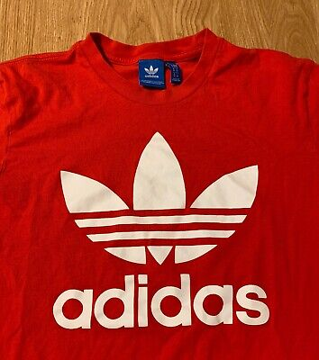 Adidas Originals Trefoil Red T-Shirt Size Men's Medium