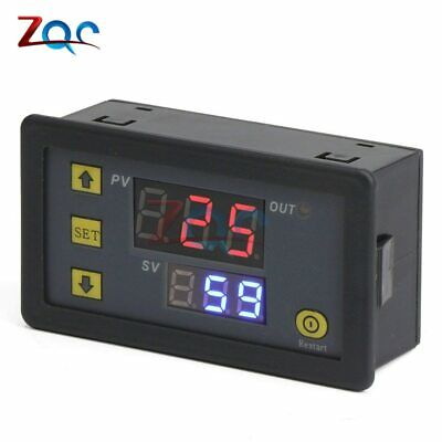 AC 110V-220V Dc 12V Digitale Tempo Delay Relè LED Display Cycle Timer Controllo