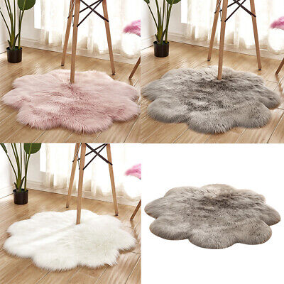 Natural Sheepskin Rug Soft Faux Fur Wool Shaggy Area Floor Mat Extra Large Small