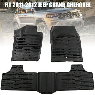 KIWI MASTER Front Rear Floor Liners TPE Slush Mat for 11-12 Jeep Grand Cherokee
