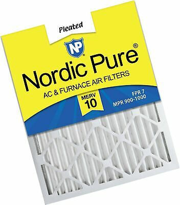 Nordic Pure 16x24x2 MERV 10 Pleated AC Furnace Air Filter, Box of 3