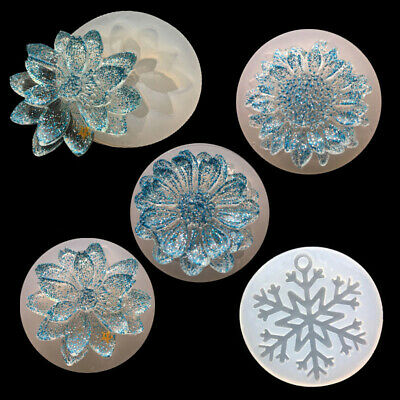 Silicone Flower Moulds Mold Resin For Jewelry Pendant Making Tool Crafts Decor