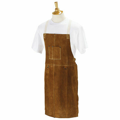"Black Stallion 36A 36"" Side Split Cowhide Bib Apron"