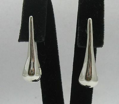 Stylish Sterling Silver Earrings New Hallmarked Solid 925 French Clip Empress
