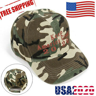 Donald Trump 2020 Cap Camouflage baseball Hat Keep America Great President Ydu