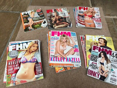 Job Lot of FHM Men's Lifestyle Magazines 2010 Through to 2016 - Over 35 Issues