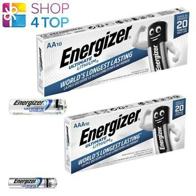 20 Energizer 10 Aa + 10 Aaa Ultimate Lithium L91 L92 Batteries 1.5V Lr6 Lr03 New
