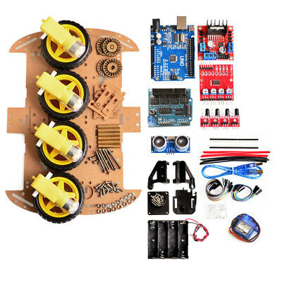 Avoid Tracking Motor 4WD Smart Robot Car Chassis DIY Kit Ultrasonic Module