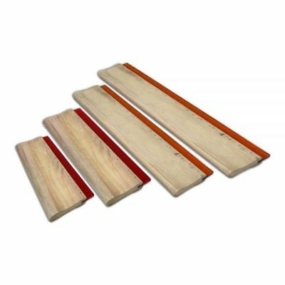 4pcs Silk Screen Printing Squeegee Ink Scraper Scratch Board 75 Durometer