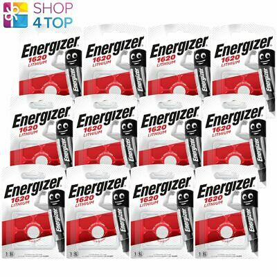 12 Energizer Cr1620 Lithium Batteries 3V Coin Cell Dl1620 Exp 2025 New
