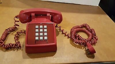 VINTAGE WESTERN ELECTRIC RED HOT CLASSIC TOUCH TONE DESK PHONE 2500 Hot Line