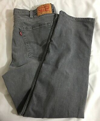 afa96643945 Levi's Levis 541 Jeans Gray Straight Leg Red Tag Men Size 38x29 Hemmed  Altered
