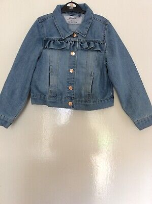 3c6d4e628 YOUNG DIMENSION PRIMARK Girls Pale Blue Faded Denim Jacket age ...