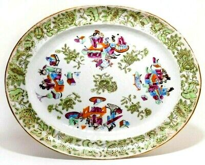 Rare 19Th C Antique Chinese Kangxi Period Lg Famille Verte Charger W/Butterflies