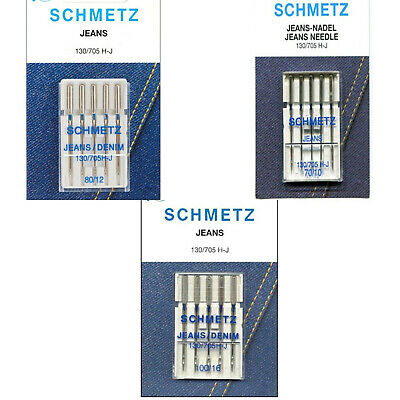 Premium Quality Schmetz Jeans Sewing Machine Needles 5 Pack 130/705 H-J