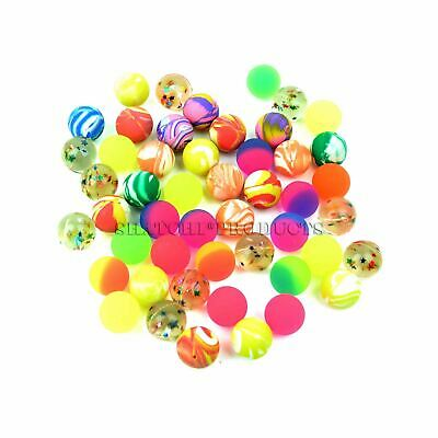 60 Colorful 27mm Bouncy Jet Balls Kids Toy For Pinata Loot Party Bag Fillers Fun