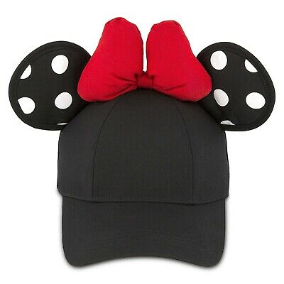 Disney Parks Minnie Mouse Polka Dot Ears Baseball Cap for Adults NEW WITH TAGS