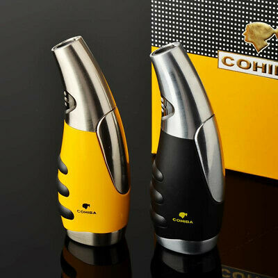 COHIBA Windproof Metal Jet Torch Flame Cigar Cigarette Portable Classic Lighter