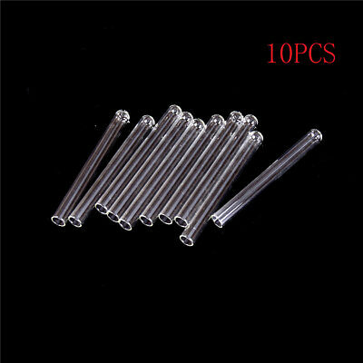 10Pcs 100 mm Pyrex Glass Blowing Tubes 4 Inch Long Thick Wall Test Tube QP