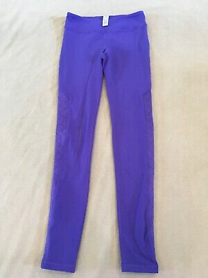 Ivivva Leggings 10 Girls By Lululemon Purple Qulited Panel On Sides