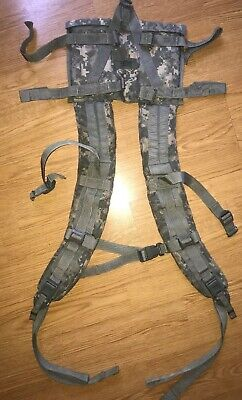 Acu Molle Ii Usgi Shoulder Straps Complete W/ Quick Release Military Issue Exc