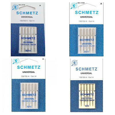 Premium Quality Schmetz Universal Needle Sewing Machine Needles 5 Pack 130/705 H