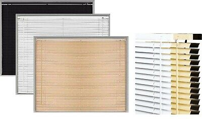 PVC Window Venetian Blinds Drop 150cm Easy to Fit Trimable Home Office Blind