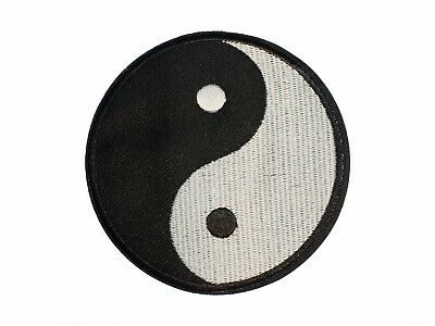 Yin Yang Iron-On Patch Sew-On Aufbuegler Miniblings Characters Black White 9cm