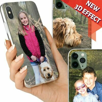 3D Personalised Phone Case Custom Photo CLEAR Flexible Cover for iPhone Samsung