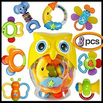 Educational Toys with Owl Bottle  for 3-12 Month Newborn Infant Baby, Boy, Girl