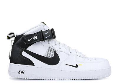 Nike Air Force MID 07 LV8 White Black Uomo Donna Scarpe Shoes 804609-103