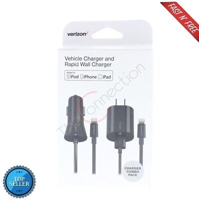c65ed42384cc91 VERIZON SUPER FAST CAR AND WALL iPhone XS Max Charger Combo Lightning 2.4  Amp
