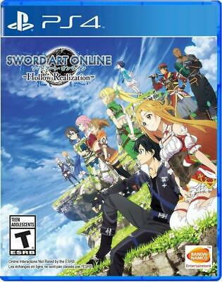 Sword Art Online: Hollow Realization PS4 (Sony PlayStation 4, 2016) Brand New