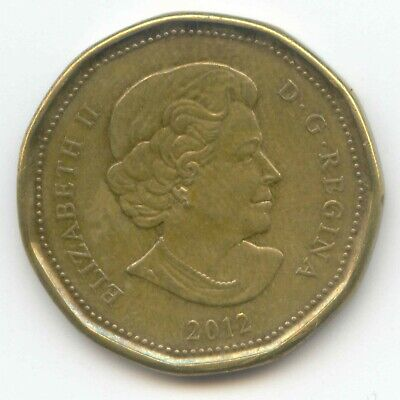 Canada 2012 Loonie Canadian One Dollar 1 $1 EXACT COIN SHOWN ~
