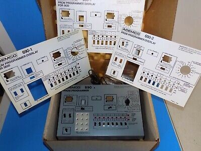 Ademco 690 Prom Programmer In Box With Overlays