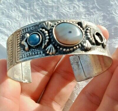 Ancient Viking Rare Bracelet Silver Extremely Old Antique Museum Quality w/stone