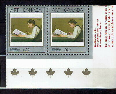 Canada - ML#416 - Art Masterpieces, The Young Reader, Scott # 1203, MNH Pair