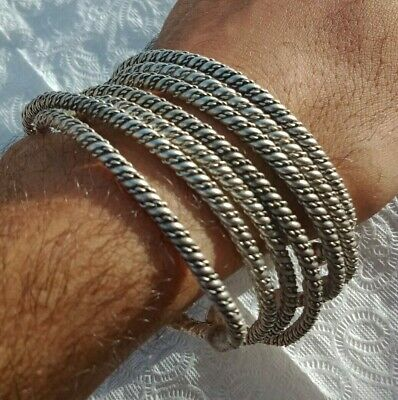 Ancient Viking 7 BRACELET SILVER Rare Vintage Artifact Stunning Extremely OLD