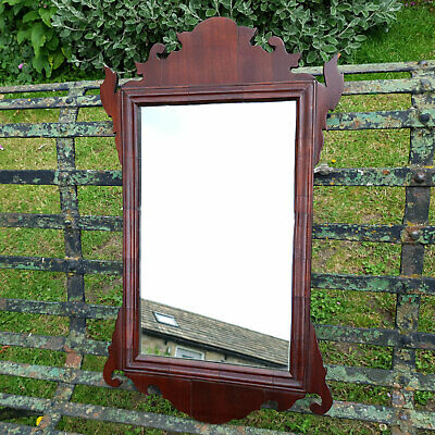 George III Chippendale Fretwork Mahogany Pier Glass Wall Mirror C19th